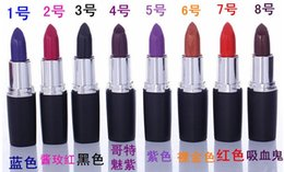 brand drop 2019 - Brand new Luster Lipstick Frost Lipstick Matte Lipstick Hallowmas COSPLAY vampire party Makeup Lipgloss cosmetics 8color