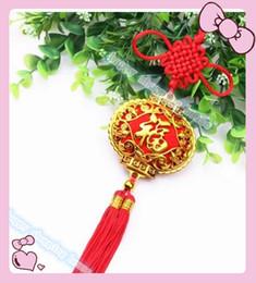 $enCountryForm.capitalKeyWord Canada - 10pcs FU PendanTraditional Cute Chinese Knots Pretty Lucky Car Hanging Accessories DIY Weaving Craft Pendant Interior Decorations