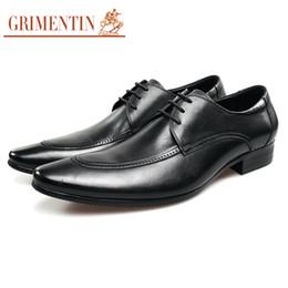 Grimentin Shoes UK - GRIMENTIN Hot sale Italian men oxford shoes fashion designer formal mens dress shoes genuien leather black business wedding male shoes SD