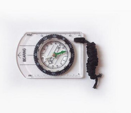 Compass Scale NZ - 2016 new Portable Mini Baseplate Compass + Map Scale Ruler for Outdoor Camping Hiking Cycling Scouts free shipping