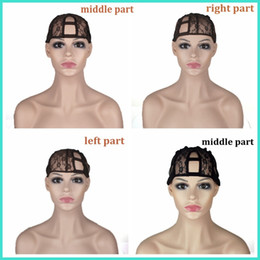 U Part Wig Cap Top Quality 3 Size Left Centre Right Parting U Part Cap For Making Wigs Adjustable Straps Back Free Shipping on Sale