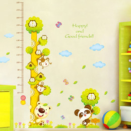 House Music Cartoon Childrens Room Furniture Living Bedroom Background Height Stickers Decorative Removable Wall
