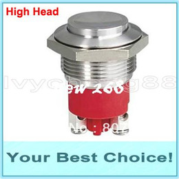 Waterproof Momentary Push Button Switch Canada - 100pcs Lot 19mm Stainless Steel Waterproof Momentary Push Button Switch,IP68,HIGH QUALITY (DHL Free Shipping)