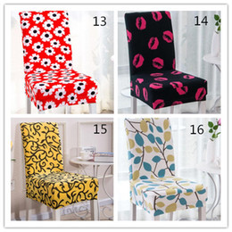 Elastic chairs online shopping - Hot styles Floral Printing Chair Covers Spandex Elastic Colorful Printing Covers for Chairs for Wedding Dinner