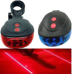 Vélo Lumière Laser Cyclisme Sécurité Led Lampe Vélo Lumière Vélo Arrière Lumière (2 Laser + 5 LED) en Solde