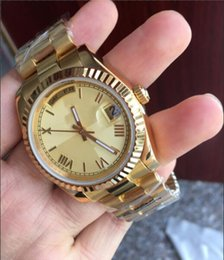 Bezel free online shopping - 2017 new ct gold DAYDATE mm self winding mechanical movement Silver dial bezel Sapphire Original clasp Mens watch