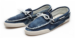 Wholesale-2015 New arrival Low price Mens Zapato Del Boat Casual Shoes Jeans Canvas Slip On Flats Loafer Shoes-- Free shipping QT1 cheap boat loafers from boat loafers suppliers