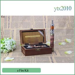 Wooden electronic cigarettes online shopping - X Fire II Electronic Cigarettes Wooden V V Protank II ml Hand Carved Wood E Fire II E cigarette Starter Kit