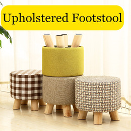 $enCountryForm.capitalKeyWord Canada - Fashion chair Upholstered Footstool + Wooden Leg Pattern: Round  square Fabric Pouffe Stool:5 Colors(4 Legs)