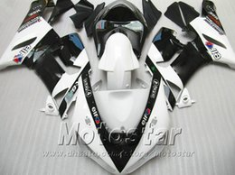 Abs Australia - Injection molding ABS fairing kit for Kawasaki Ninja ZX-6R 2005 2006 aftermarket ZX6R 636 05 06 black white fairings set XV9