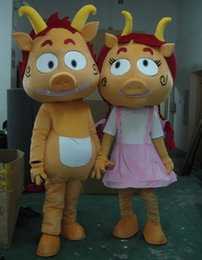 Costumes De Costumes De Couple Pas Cher-Factory Outlets Brand New Couple Piggy porcs Halloween Costume Fantaisie Costume Cartoon Mascotte Animaux Livraison gratuite