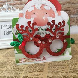 discount christmas frames kids eyeglasses frame antler christmas party decor for boys girls cute costume props - Discount Picture Frames