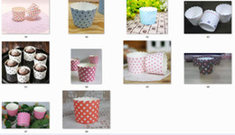 Cup Cake Muffin Holder Canada - Paper bucket MUFFIN paper cake cups,Stripe and Dot Paper CUPCAKE CASES, baking cup,cake holder