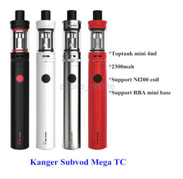 $enCountryForm.capitalKeyWord UK - Wholesale - Genuine Kanger Subvod Mega TC Starter Kit With 4ML Toptank Mini And 2300mah Battery Cute E Cigarette Kits Kangertech Subvod Mega