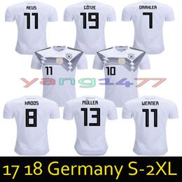 147b2d78bcb 2018 Germany soccer jersey world cup Away Home OZIL MULLER GOTZE HUMMELS  KROOS BOATENG REUS German jerseys football shirts