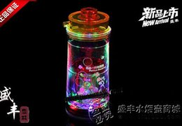lighted bong 2019 - Free shipping wholesale Hookah - Acrylic bong [Kinder 6 lights (104) Hookah], color random delivery discount lighted bon