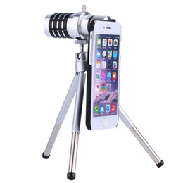 Telescope Optical Zoom Canada - 1Pc At High Magnification Hd 12x Optical Zoom Len Camera Mobile Telescope With Tripod Clip For Iphone 5 5s Te002