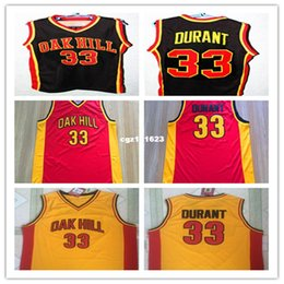 CUSTOM NAME /& # OAK HILL HIGH SCHOOL JERSEY BLACK  DURANT NEW SEWN ANY SIZE