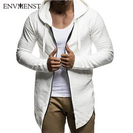 Barato Camisolas Grossistas Hiphop-Venda por atacado - Envmenst New Fashion Designed Men's Coat Hoodies Dovetail Cardigan Hiphop Men's Zipper Hooded Sweatshirt Oversize Streetwear