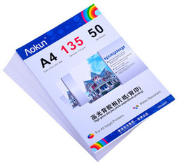 $enCountryForm.capitalKeyWord Canada - High glossy adhesive back print photo paper A4 135g 50 Sheets inkjet waterproof paper photo paper for Inkjet Prints
