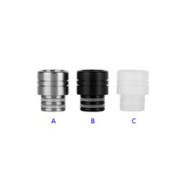 atomizer cool 2019 - Very Cool Design Stainless Steel Resin 510 Drip Tips SS Black White Wide Bore Drip Tip for 510 EGO Atomizer Mouthpieces