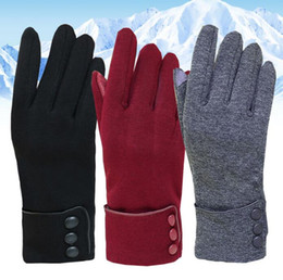Hiking bike online shopping - Cycling Gloves Warm non slip touch screen Bike Bicycle Gloves Riding Gym Finger Gloves Outdoor Sport Shockproof Mittens KKA3228