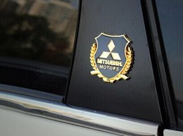$enCountryForm.capitalKeyWord Canada - 2pcs set car styling for Mitsubishi LANCER LANCER-EX ASX Outlander metal logo sticker modified standard column car accessories