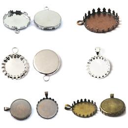 $enCountryForm.capitalKeyWord NZ - Beadsnice bronze pendant base setting cabochon mountings round pendant base blank handmade jewelry findings wholesale ID 32244