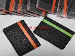 $enCountryForm.capitalKeyWord NZ - Free shipping Hot selling South Korea magic wallet New Mens MAGIC MONEY clips for men purse orange & green size 10cm*7cm*0.5cm