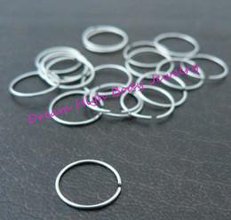 $enCountryForm.capitalKeyWord Canada - Steel Hoop Nose Ring Earring Ear Clip Cuff Stud Body Piercing Jewelry 316L Stainless Steel 18G 20g 22G hot Sale Choose Size Unisex Fake Lip