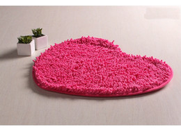Heart Housing NZ - Red Pink Carpets Indoor Rugs Matting Pad Cover Doormat Heart Shape Design For House Home Room Floor