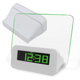 2014 светодиодный стол цифровой будильник USB светодиодные часы с доской объявлений и флуоресцентной ручкой с красным синим зеленым светом ABS и акриловым материалом
