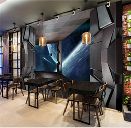 Discount Living Spaces Tv Large Custom Wallpaper Shocked Space Spacecraft  Cosmic Science Fiction Mural Background Kids