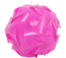 $enCountryForm.capitalKeyWord Canada - 3000pcs=100set DIY Modern Pendant Ball Novel IQ Lamp Jigsaw Puzzle Pendants Colorful Pendant Lights 25CM 30CM 40CM 3 sizes 9clolors
