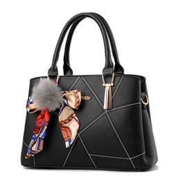 China new handbag women casual tote bag female large shoulder messenger bags high quality PU leather handbag with fur ball supplier single balls suppliers