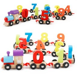 Number Blocks Canada - Original Muwanzi Children's Block Number Train Colorful Educational Puzzle Wooden Train Kids Assembly Puzzle Toys 2107356