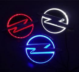 Light Logo embLem online shopping - New D Auto standard car Badge Lamp Special modified car logo LED light auto emblem led lamp for opel