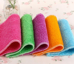 Wholesale High Efficient Color Dish Cloth,bamboo Fiber Washing Dish  Towel,magic Kitchen Cleaning Cloth,wipping Rags Cheap Furniture Pads
