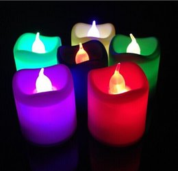 $enCountryForm.capitalKeyWord Australia - Colorful LED Electronic Candle Lamp For Birthday Halloween Christmas Wedding Party Decoration Ornament New Arrival 24pcs box