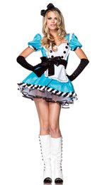 Cosplay Cosplay D'alice Alice Pas Cher-Gros-Alice au pays des merveilles Belle Lolita costume cosplay Alice Lolita costume de mascarade costume carnaval fête costume princesse