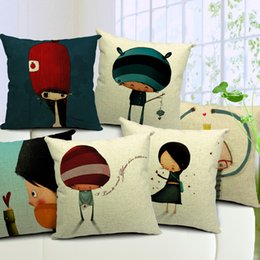 friends decor Canada - Game Sofa Cushion Covers Cartoon Boys Girls Pillow Covers Pillows Case Decoration Gift for Friends Game Lovers Car Office Decor