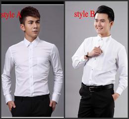 Camicie uomo abbigliamento da sposo uomo abbigliamento da sposo bianco nuovo stile di alta qualità OK: 02 in Offerta