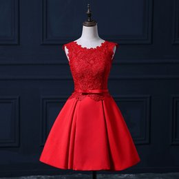 $enCountryForm.capitalKeyWord UK - Brand New Real Evening Dresses Elegant A-Line Backless Girls Women Gown Short Lace Satin Ball Prom Party Graduation Formal Dress