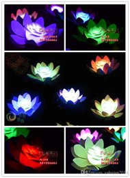 $enCountryForm.capitalKeyWord Australia - Hot Sale Artificial LED Floating Lotus Flower Candle Lamp With Colorful Changed Lights For Wedding Party Decorations Supplies