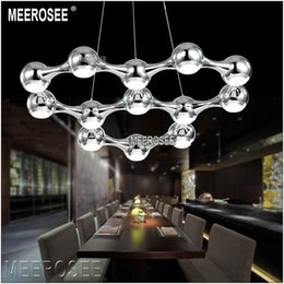Discount 19 chandelier - Modern LED Chandelier Light lighting lustre fixtures Ball Hanging LED dining light with LED Light Bulb 39 Watt