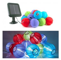 2015 Novo Produto Frete Grátis 10XLED Solar Decorativa Lanterna Pendurada Luzes Coloridas Da Corda Para O Jardim Ao Ar Livre Festa de Feriado iluminação WI02 em Promoção