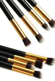Pencil Blending Tool Canada - 1Set 4pcs Professional Eye brushes set eyeshadow Foundation Mascara Blending Pencil brush Makeup tool Cosmetic Black YzxIK