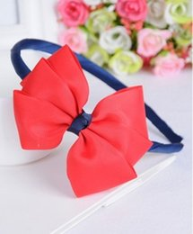$enCountryForm.capitalKeyWord Canada - whosale noble lovely girl baby bow Headband kid Hair band bow Headbands Bandanas Hair Sticks retail opp bag packaging