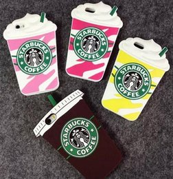 $enCountryForm.capitalKeyWord Australia - 3D Cartoon Starbuck Coffee Cup For IPhone 4s 5s 6 Plus Cell Phone Cases Silicon Starbuck Coffee Cup Durable Mobile Phones Case