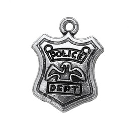China Free shipping New Fashion Easy to diy 20pcs police dept vintage metal charm jewelry making fit for necklace or bracelet cheap wholesale police jewelry suppliers